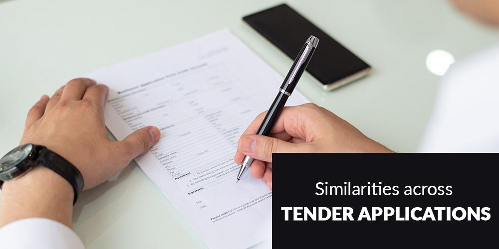 Similarities across Tender Applications